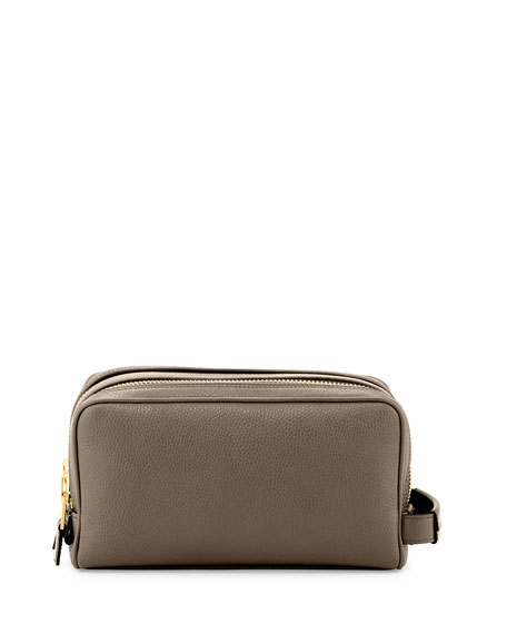 TOM FORD Double-Zip Toiletry Bag, Gray
