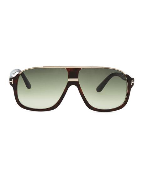 Elliot Acetate Sunglasses, Brown