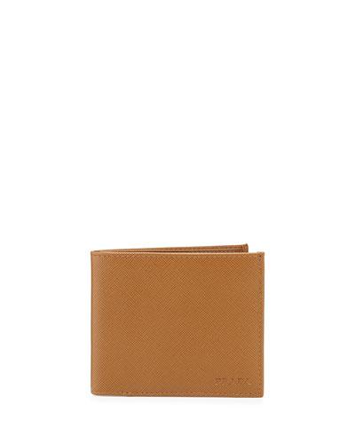 American Classic Saffiano Wallet, Caramel