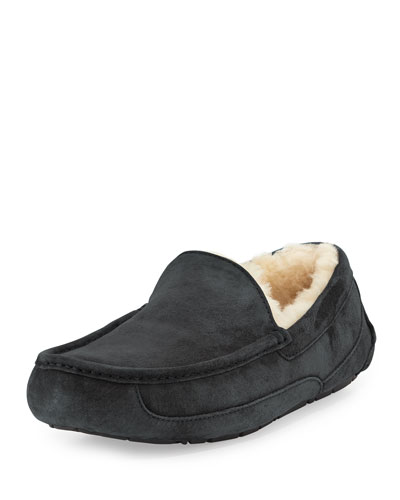 Ascot Suede Slipper, Gray