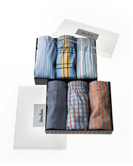 Boxer Briefs 3-Piece Set, Orange/Multi