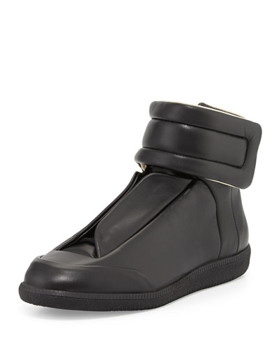 Future Leather High-Top Sneaker, Black