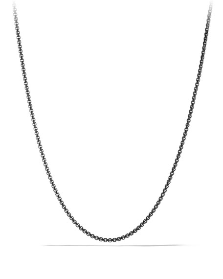David Yurman Small Box Chain, Steel