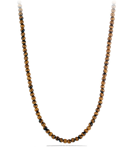 David Yurman Spiritual Bead Necklace with Tiger's Eye