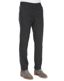 Vince Pleated Jogger Pants, Charcoal