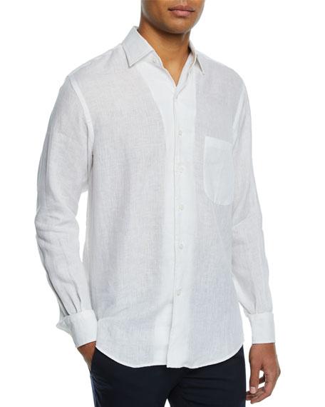 Loro Piana Andre Button-Down Shirt, Optical White