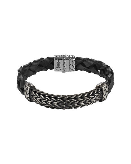 John Hardy Men's Classic Chain Large Station Bracelet