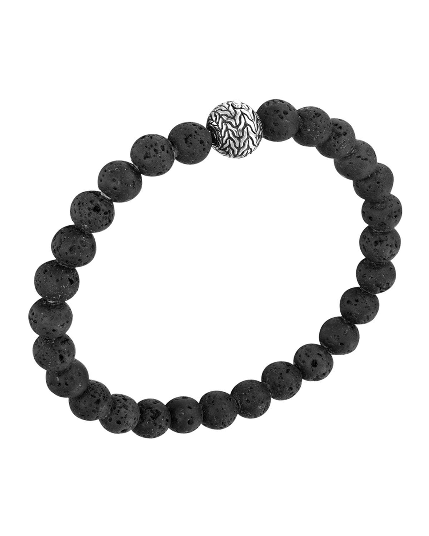 Men S Batu Clic Chain Volcanic Bead Bracelet