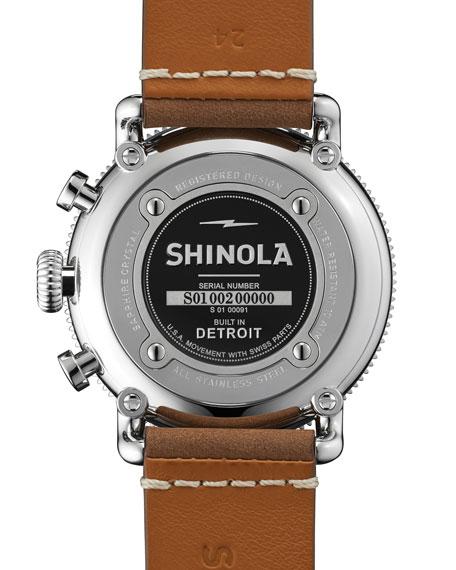 47mm Runwell Sport Chronograph Watch, Brown/Green