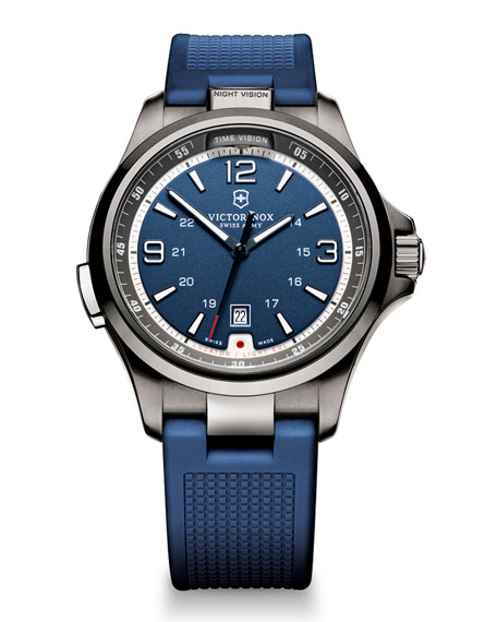 Night Vision Watch with Rubber Strap, Blue