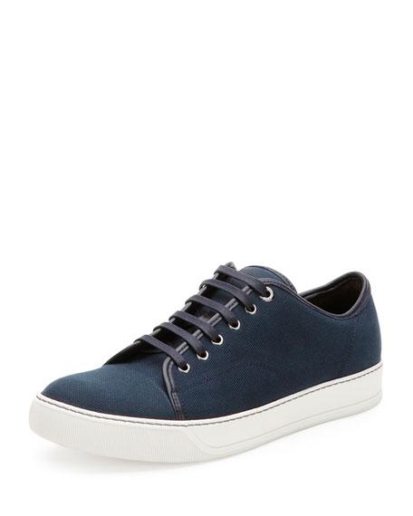 Lanvin Canvas Low-Top Sneaker, Navy