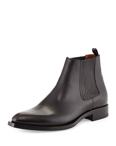 Norberto Leather Chelsea Boot, Black
