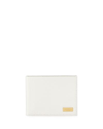 Salvatore Ferragamo Revival Two-Tone Card Case, Brown/White