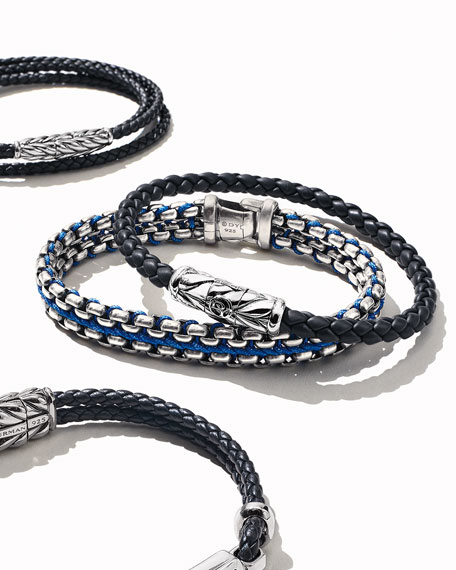 Image 2 of 3: David Yurman Chevron Bracelet in Black