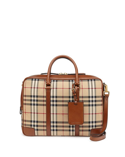 Horseferry Check Briefcase, Tan