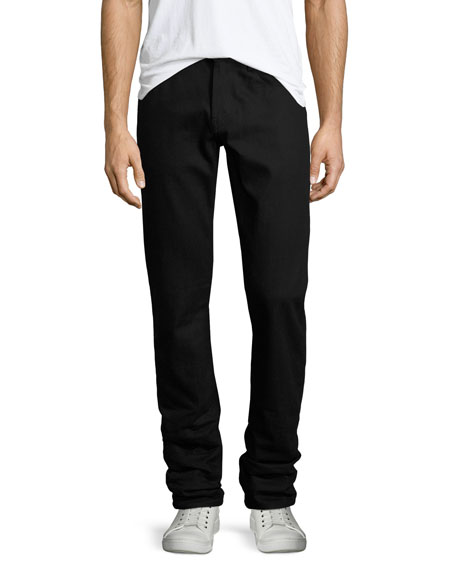Men's Kane Black Stretch-Denim Jeans