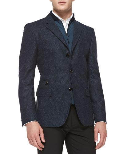 Donegal Jacket W/ Zip Vest, Navy