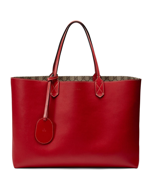 118b0e8bc966 Gucci Reversible GG Leather Tote Bag