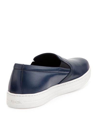 prada leather slip on sneaker