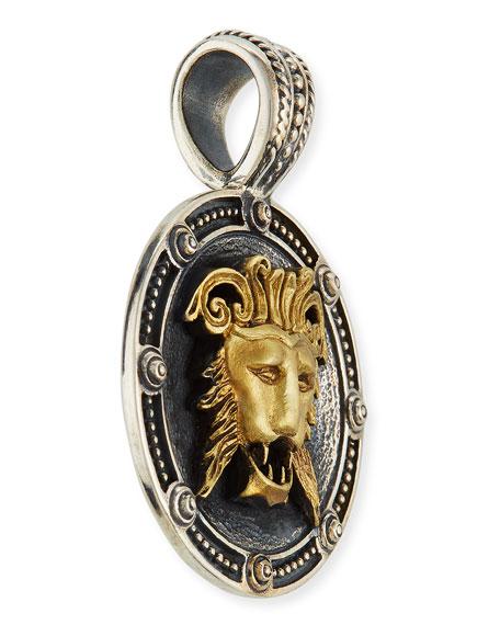 Konstantino Men's Myrmidones Round Lion-Face Pendant