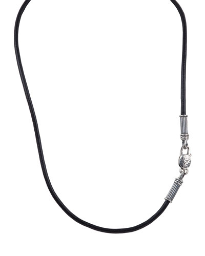 20 Men's Leather Cord Necklace