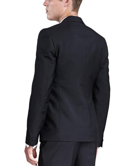 Satin-Lapel Tuxedo Jacket, Black