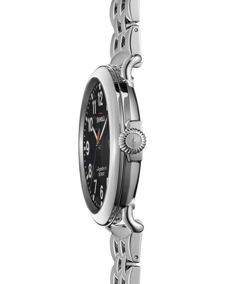 47mm Runwell Men's Watch, Stainless Steel/Black Dial