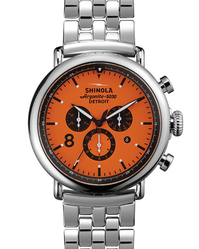 47mm Runwell Sport Chronograph Watch, Orange