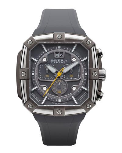 46mm Supersportivo Square Watch, Dark Gray