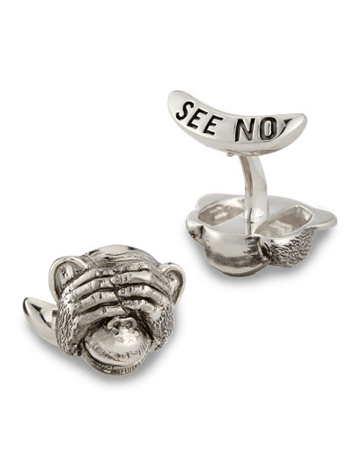 See No Evil Cuff Link