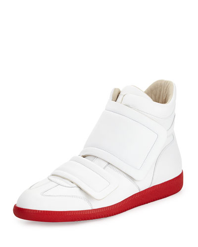 Clinic Grip-Strap High-Top, White/Red