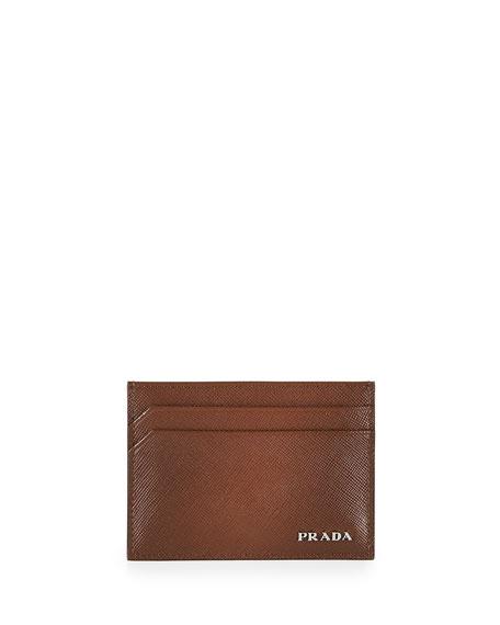 Prada Saffiano Card Case, Cacao