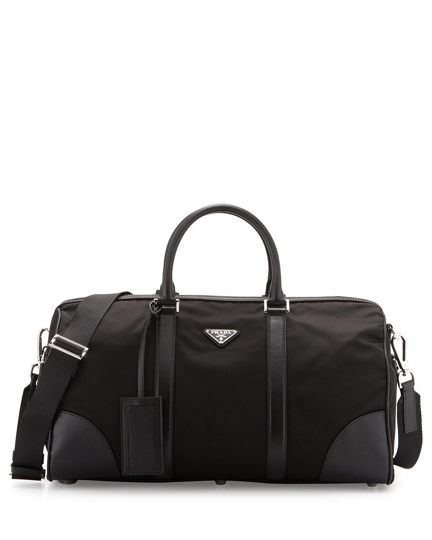 5156341d6409 Prada Nylon and Leather Duffel Bag
