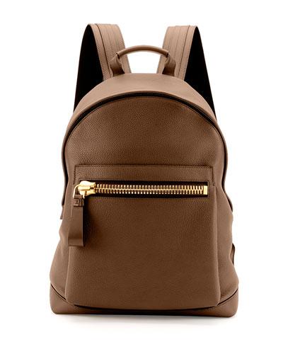 Buckley Zip-Pocket Backpack, Brown