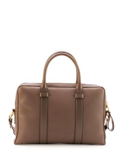Buckley Zip Briefcase, Brown
