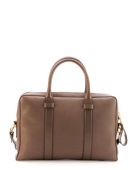 TOM FORD Buckley Zip Briefcase, Brown