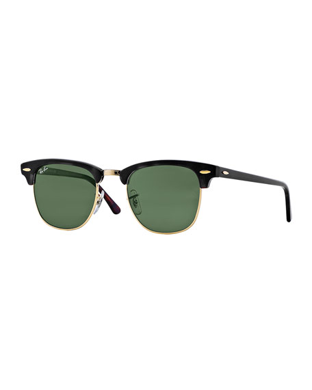 Ray-Ban Classic Clubmaster Sunglasses, Matte Havana/Green