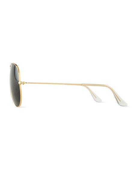 Original Aviator Sunglasses, Gold/Green