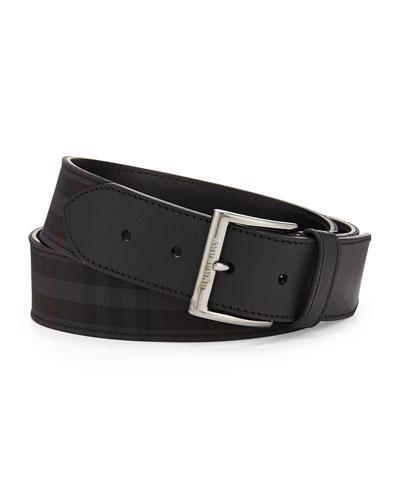 Check Belt, Charcoal