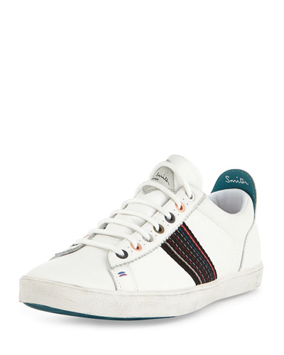 Monolux Striped Sneaker, White