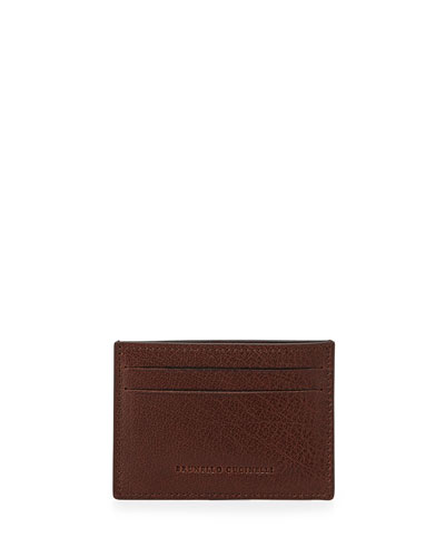 Leather Card Case, Brown