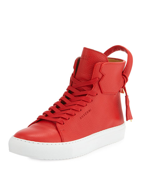 Buscemi 125mm High-Top Sneaker, Red/White