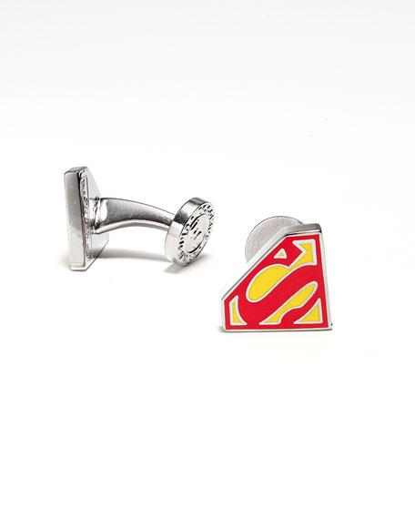 Superman Shield Enamel Cuff Links