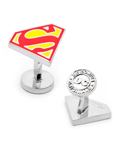 Superman Shield Enamel Cufflinks