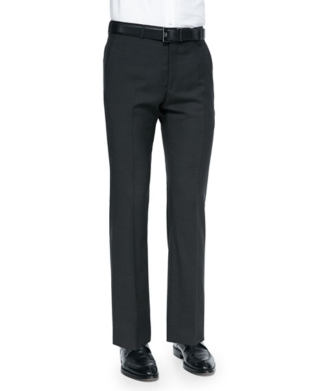 Giorgio Armani Pindot Trousers, Dark Brown/Olive