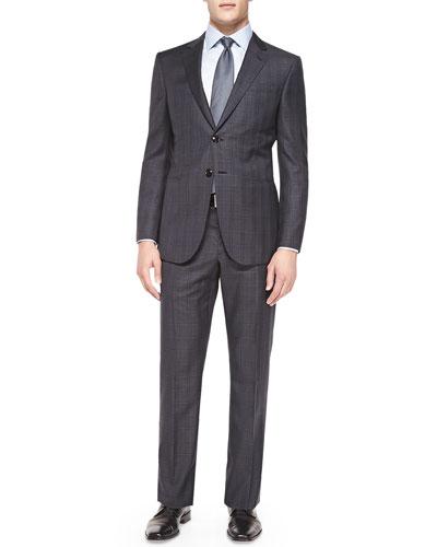 Wall St. Plaid Suit