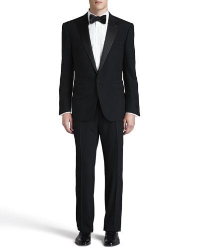 Peak-Lapel Tuxedo, Black