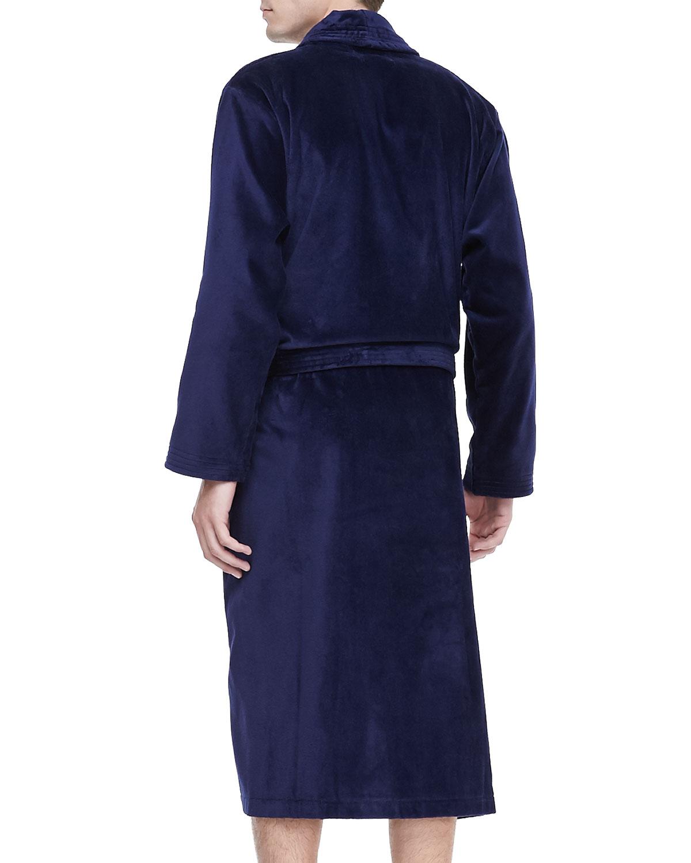 Derek rose silk robe