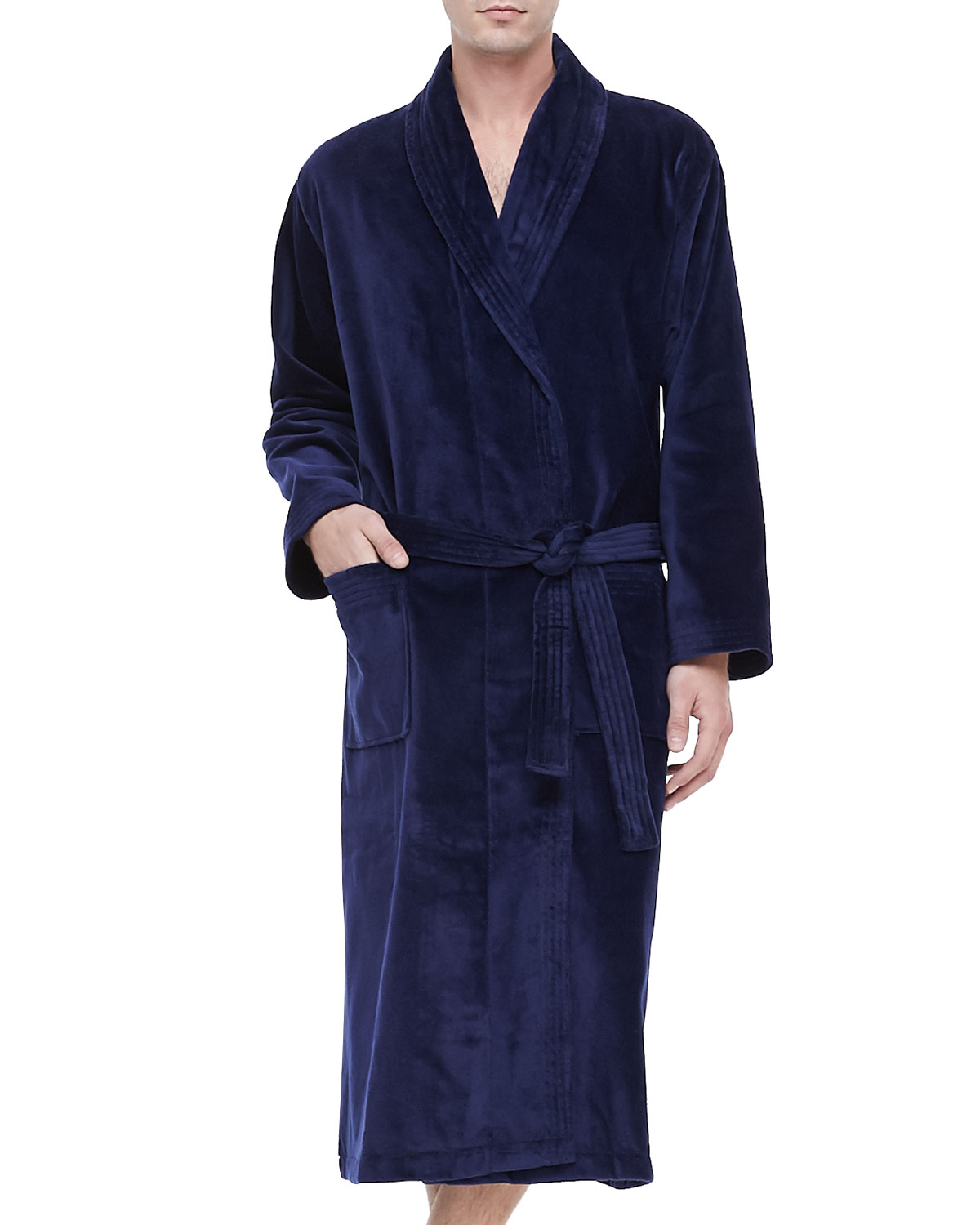 2019 best sell select for official utterly stylish Terry Cloth Robe, Navy