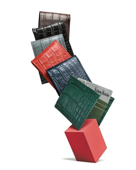 Neiman Marcus Alligator Bi-Fold Wallet
